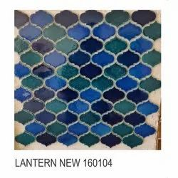 Glossy Square Outdoor Ceramic Ornamental Wall Tile, Size: 75x75mm, Thickness: 10mm
