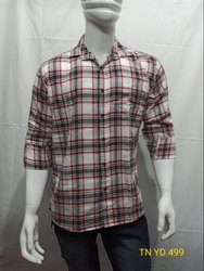 Cotton Twill Collar Neck Men Readymade Shirts