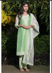 Glamorous Green Manyavar Beautiful Light Green Printed Suit