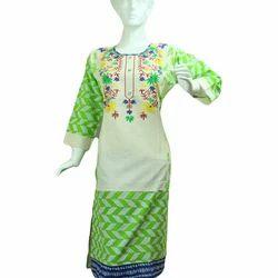 Cotton Ladies Stylish Kurti, Size: M and L