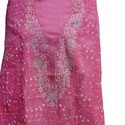 Chikan Suit Piece Pink