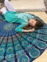 Round Beach Tapestry Mandala Beach Cotton Round Table Mandala Yoga Mat Meditation Picnic 72 Inch