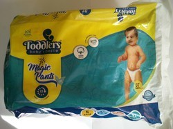 White Toddlers Baby Diapers Open Style Pack Of 7 Small