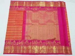 Kanchipuram Silk Sarees, Length: 6.3 m