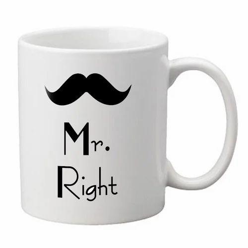white mustache coffee mug usage home office rs 100 piece id