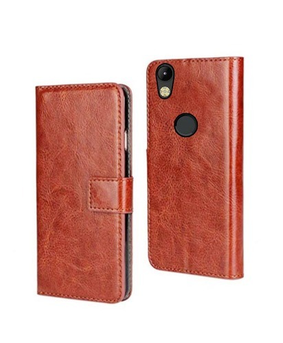 info for b73a4 98f0a Techno Camon I Mobile Flip Cover High Quality Stylish Look Pu Leather Brown  Color
