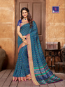 Shangrila Collection Kanjivaram Silk Blue Saree- 2390