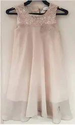 Pink Girls Chiffon Dress