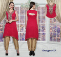 Dot Exports Casual Trendy Designer Work Ladies Suits For Girls Heavy Dupatta
