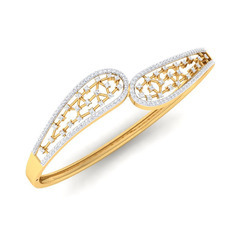 Female CDL Fineshine Natural Diamond Bracelet 14k Gold, Packaging Type: Box