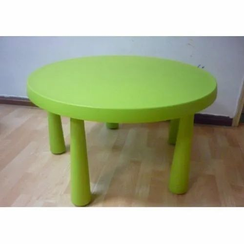 Green Round Table.Kids Plastic Furniture Bear Chair Manufacturer From Pune