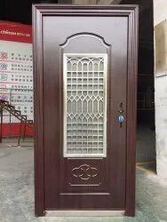 Metal Single Door Hinged Steel Security Doors