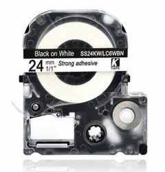 LK-6WBN Compatible for EPSON LK6WBN Label Tape Black on white 24mm x 8m