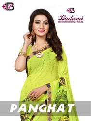 Formal Wear Badami Panghat Saree, 5.5 m (separate blouse piece)