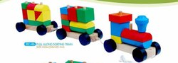Multicolor Pull Along Sorting Train, For Kids Play