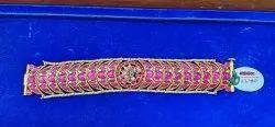 925 Solid Silver Kundan Bracelets