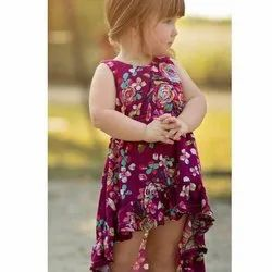 Baby Girls Printed Rayon Frock