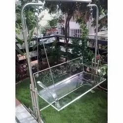 Clear Acrylic Jhula with Stand