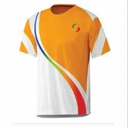 Polyester Round Neck School Uniform Sports T Shirt Multi Color