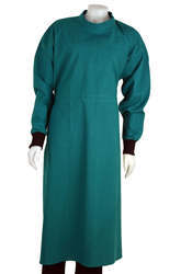 Medical Gown Green Cotton Cloth