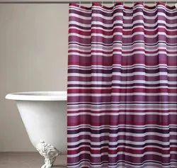 71 x 71 Inch Stripes Multi Amethyst Shower Curtain