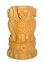 Wooden Ashok Stambh Pen Stand Medium Statue Collectible