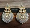 Satyam Jewellery Nx Round Traditional Earring, Size: 7 Cm
