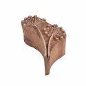 Fancy Floral Wooden Printing Stamp