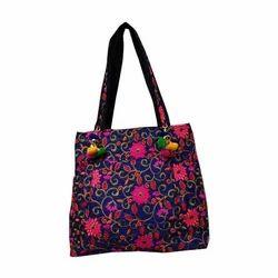 Multicolor Embroidery Handmade Designer Tote Bag