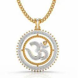 Om Gold Diamond Pendant