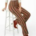 Striped Printed Palazzo Pants For Girls/Woman