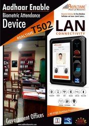 Realtime T502 Aadhar Enabled Biometrics Attendance Systems, Model No.: T-502