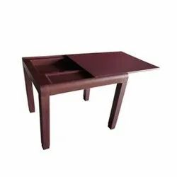 Brown Plastic Flip Top Open Table for Home