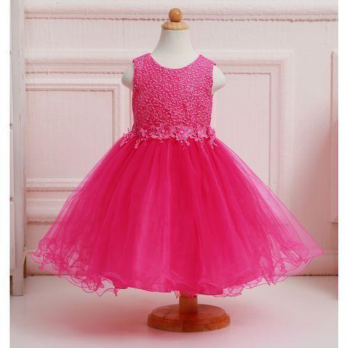 407319bec Pink Kids Party Wear Frock