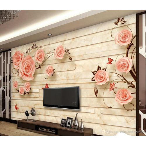 tv unit 3d wallpaper