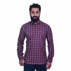 S-xxl Casual Wear Mens Cotton Check Shirt