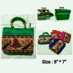Handled Pooja Hand Bags