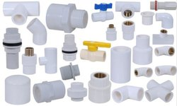 White UPVC Pipe Fittings, Size: 15mm to 50mm, Material Grade: SCH 80