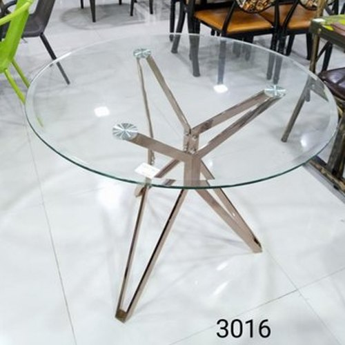 Round Modern Glass Dining Table For, Dining Table Glass Round