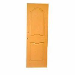 Light Oak Polished PVC Fiber Door, For Home, Exterior