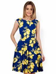 Girl Multicolor western Dress, Sleeveless