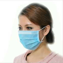 Non Woven Two Ply Ear Loop Mask, Size: Universal