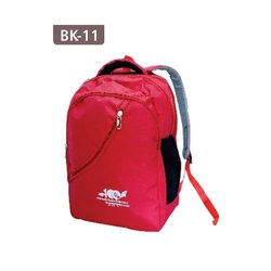 Polyester Red School Printed Bag Backpack, Number Of Compartments: 3, Bag Capacity: 15 Kg