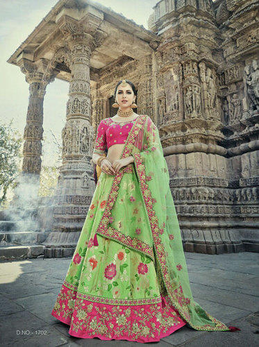 d398840f0c Silk Heavy Gota Work Bridal Lehenga, Rs 5895 /piece, Saree Exotica ...