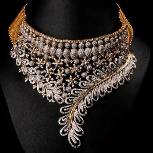 Bridal Diamond Necklace At Rs 50000 Set Jaipur Id 15998931062