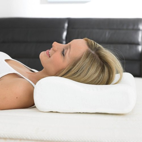 White Poly Cotton Pillow Neck Pain Cervical Pillow Rs 370