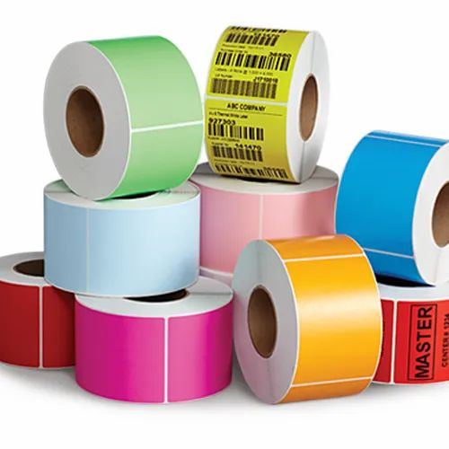 Multicolor Self Adhesive Stickers, Packaging Type: Roll