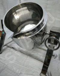 Silver Stainless Steel Pressure Cooker, For Restaurant, Capacity: 500 Liter