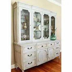 Hinged Wooden Cutlery Display Cabinet, Polished, Number Of Doors: 4 Doors