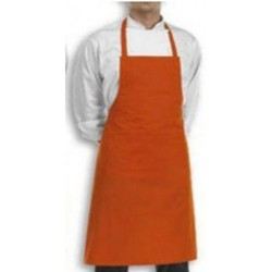 98d5cd4aff9 PLAIN ORANGE APRON Bib Apron Plain Orange - Cook Wear House Wear, Size:  STANDARD